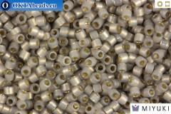 MIYUKI Beads Delica Silver Line Light Taupe Opal 11/0 (DB1456)