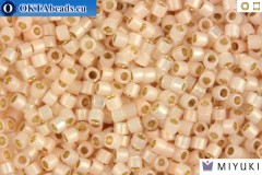 MIYUKI Beads Delica Silver Line Pale Peach Opal 11/0 (DB1452)
