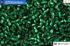 MIYUKI Beads Delica Silver Lined Emerald 11/0 (DB605)