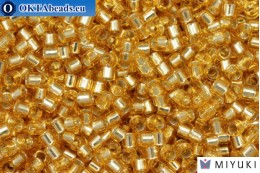 MIYUKI Beads Delica Silver Lined Gold (DBM42) 10/0, 5gr