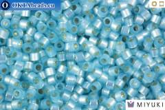 MIYUKI Beads Delica Silver Lined Light Aqua Alabaster 11/0 (DB628)