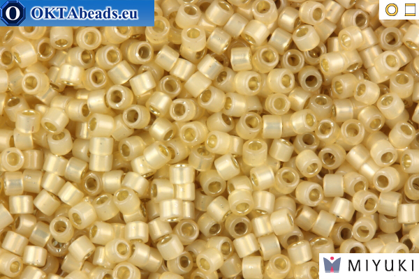 MIYUKI Beads Delica Silver Lined Light Honey Opal 11/0 (DB1458)