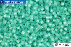 MIYUKI Beads Delica Silver Lined Mint Green Alabastr (DB627) 11/0, 5гр