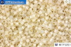 MIYUKI Beads Delica Silver Lined Pale Cream Opal 11/0 (DB1451)