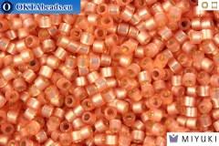 MIYUKI Beads Delica Silver Lined Peach Alabaster 11/0 (DB622)