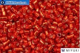 MIYUKI Beads Delica Silver Lined Red/Orange (DBM43) 10/0, 5gr DBM0043