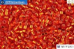 MIYUKI Beads Delica Silver Lined Red/Orange 11/0 (DB43)