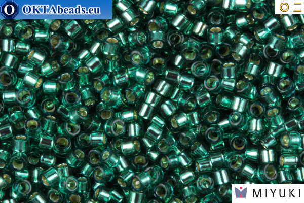 MIYUKI Beads Delica Silver Lined Teal 11/0 (DB607)