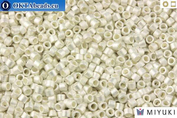 MIYUKI Beads Delica Silver Plate Frosted (DB551F) 11/0 DB551F