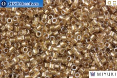 MIYUKI Beads Delica Sparkling Light Bronze Lined Crystal 11/0 (DB907)