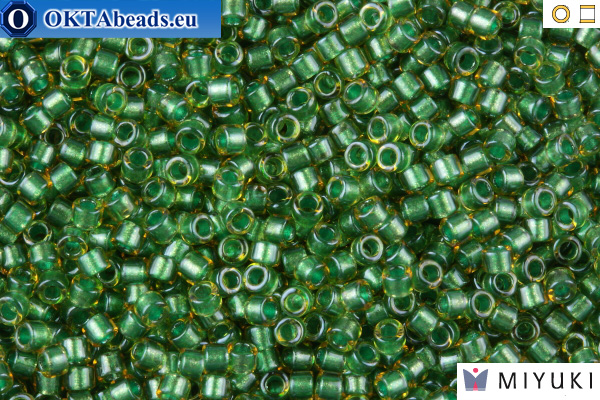 MIYUKI Beads Delica Sparkling Light Green Lined Topaz 11/0 (DB917)