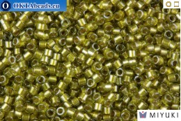 MIYUKI Beads Delica Sparkling Light Yellow Lined Chartreuse 11/0 (DB908)