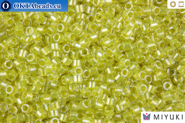 MIYUKI Beads Delica Sparkling Light Yellow Lined Crystal 11/0 (DB910)