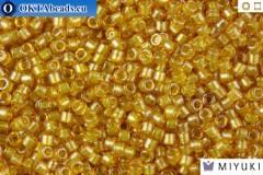 MIYUKI Beads Delica Sparkling Lined Topaz 11/0 (DB911)