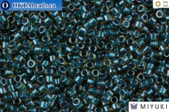 MIYUKI Beads Delica Sparkling Teal Lined Topaz 11/0 (DB921)