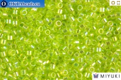 MIYUKI Beads Delica Transparent Chartreuse AB 11/0 (DB174)