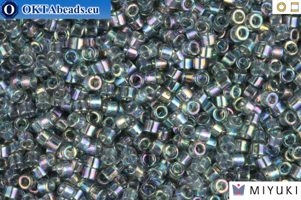 MIYUKI Beads Delica Transparent Light Grey AB 11/0 (DB179)