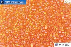 MIYUKI Beads Delica Transparent Tangerine AB 11/0 (DB151)