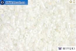 MIYUKI Beads Delica White Pearl AB 11/0 (DB202) DB202