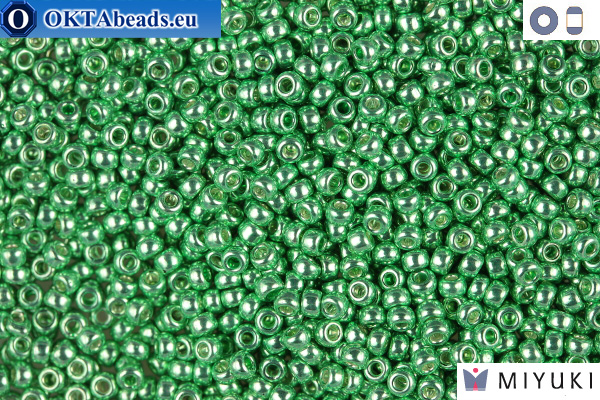 MIYUKI Beads DURACOAT Galvanized Dark Mint Green 11/0 (4214) 11MR4214