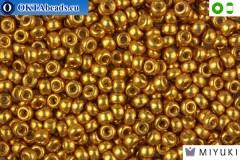 MIYUKI Beads DURACOAT Galvanized Gold 8/0 (4202)