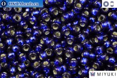 MIYUKI Beads DURACOAT Silver Line Navy Blue (4281) 11/0, 10гр 11MR4281