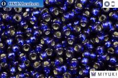 MIYUKI Beads DURACOAT Silver Line Navy Blue (4281) 11/0, 10g 11MR4281