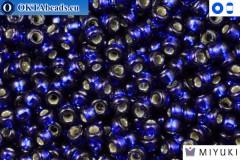 MIYUKI Beads DURACOAT Silver Line Navy Blue (4281) 15/0, 5гр 15MR4281