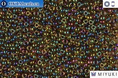 MIYUKI Beads Fuchsia Lined Yellow AB 11/0 (357)