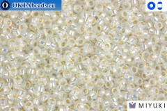 MIYUKI Beads Gilt Lined White Opal 15/0 (551)