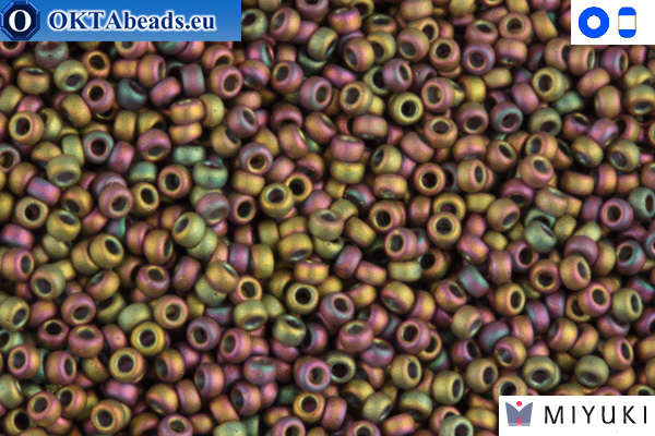 MIYUKI Beads Matte Metallic Green/Pink 15/0 (2035)