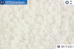 MIYUKI Beads Matte Opaque White (402F) 11/0