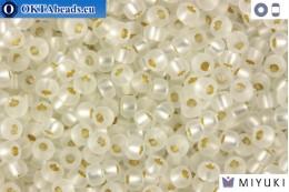 MIYUKI Beads Matte Silver Line Crystal (1F) 11/0 11MR1F
