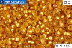 MIYUKI Beads Matte Silver Line Dark Gold (4F) 11/0 11MR4F