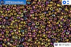 MIYUKI Beads Metallic Purple/Gold Iris 15/0 (188)