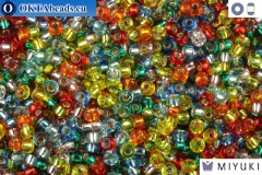 MIYUKI Beads Mix Silver Lined Rainbow 11/0 (mix38)
