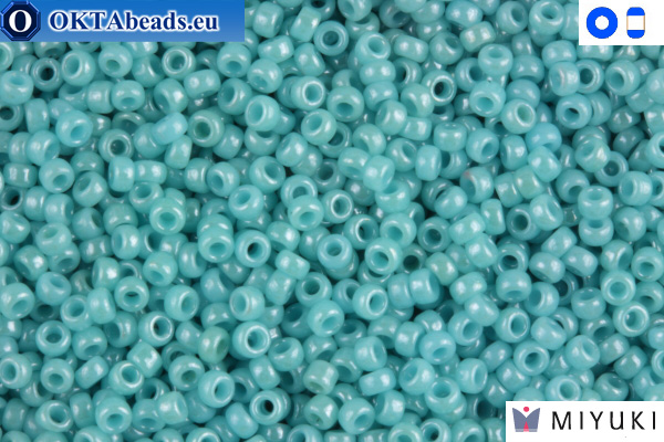 MIYUKI Beads Opaque Light Aqua Luster 15/0 (2470)