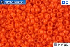 MIYUKI Beads Opaque Orange (406) 15/0