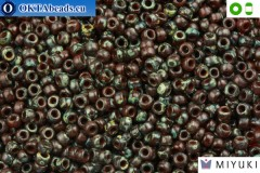 MIYUKI Beads Picasso Red Brown Transparent (4503) 8/0