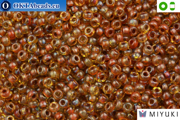 MIYUKI Beads Picasso Saffron Transparent (4501) 8/0