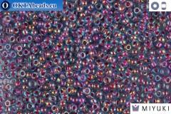 MIYUKI Beads Pink Lined Aqua AB 11/0 (340)