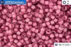 MIYUKI Beads Semi-Matte Rose/Lined Crystal (1931) 11/0
