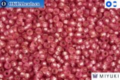 MIYUKI Beads Semi-Matte Silver-Lined Dark Rose 15/0 (1627)