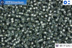 MIYUKI Beads Semi-Matte Silver-Lined Grey 15/0 (1657)