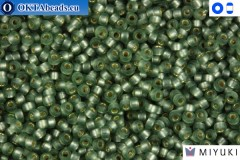 MIYUKI Beads Semi Matte Silver-Lined Light Green 15/0 (1630)