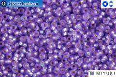 MIYUKI Beads Semi-Matte Silver-Lined Purple 15/0 (1654)