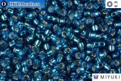 MIYUKI Beads Silver Line Capri Blue (25) 11/0 11MR25