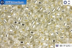 MIYUKI Beads Silver Line Crystal (1) 11/0