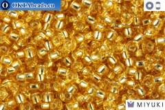 MIYUKI Beads Silver Line Gold (3) 11/0