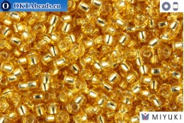 MIYUKI Beads Silver Line Gold (3) 11/0 11MR3